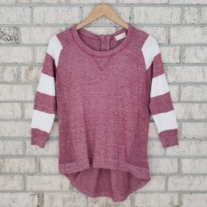 Altar'd State Heathered Stripe Sleeve Top